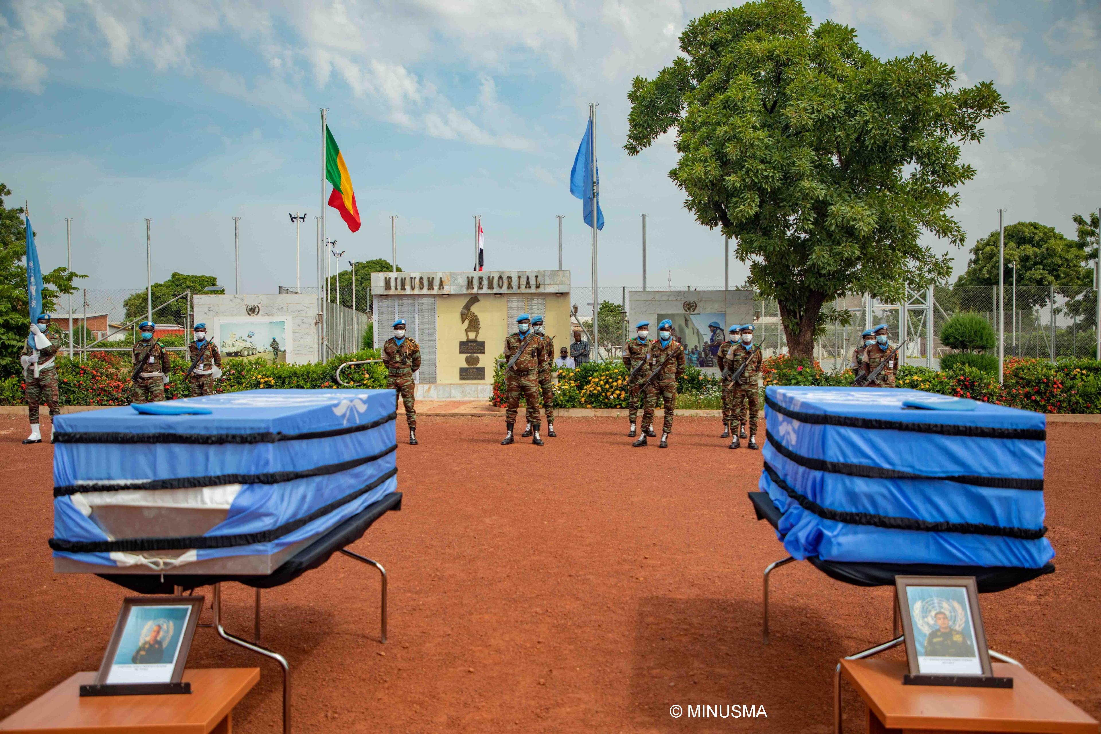 تكريم ذكرى اثنين من حفظة السلام المصريين اللذين قدما التضحية الكبرى تحت علم الأمم المتحدة لدعم السلام والاستقرار في مالي